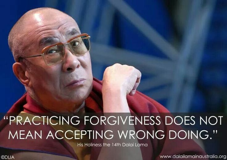 Forgiveness vs accepting wrong doing.... Quote