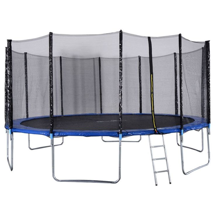 Costway- 16FT Trampoline Combo Bounce Jump Safety Enclosure Net W/Spring Pad Ladder