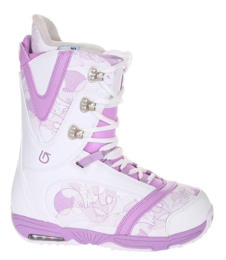 Burton Lodi Snowboard Boots Light Grey/Purple
