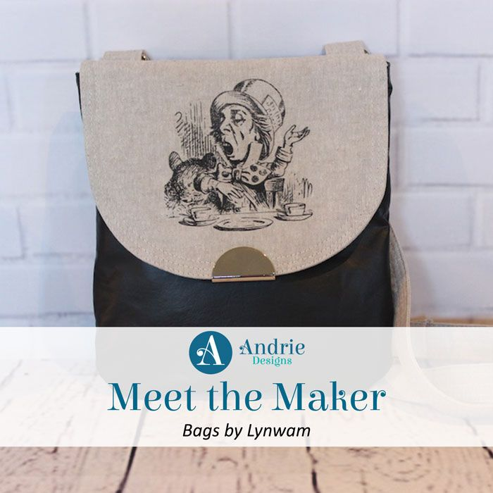 Meet the Maker - Bags by Lynwam - Andrie Designs  Paper and PDF bag patterns  Handmade bag