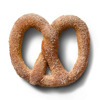 A soft Cinnamon Sugar Pretzel will satisfy any spirit. It�s hot from the oven, sprinkled with fresh cinnamon, sweet sugar and handed right over.
