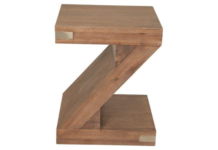 Silverwood Z Pedestal Side Table | Super A-Mart