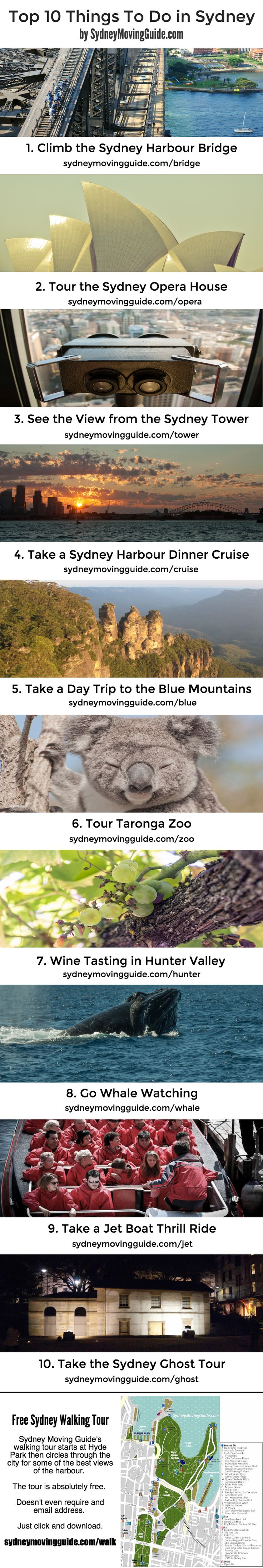 Things to do in Sydney   Australia   Travel   Adventure    Top Ten Things To Do in Sydney including a free city walking tour. Just click to download. Absolutely free, not even an email is requried.