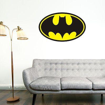 Retro Cool Batman Wall Art Vinyl #sticker #graphic #decal Bedroom Car  Superheroes,