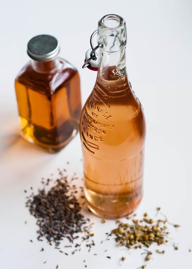Herbal hair rinse recipe with apple cider vinegar