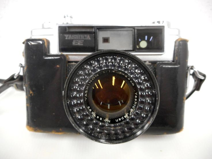 Vintage Yashica 35mm Camera Model EE, Yashinon 1.9, f-4.5cm Lens, Holder and Strap
