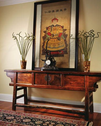 Antique Asian -  Foyer -   Florida Design Magazine -