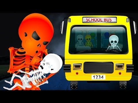 (5) Skeleton Wheels On The Bus | Finger Family Rhymes | Skeleton Dance | Kids Preschool Nursery Rhymes - YouTube