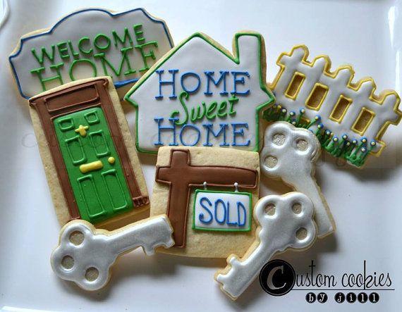 1 DOZEN  Home House Warming Welcome Key by JillCustomCookies