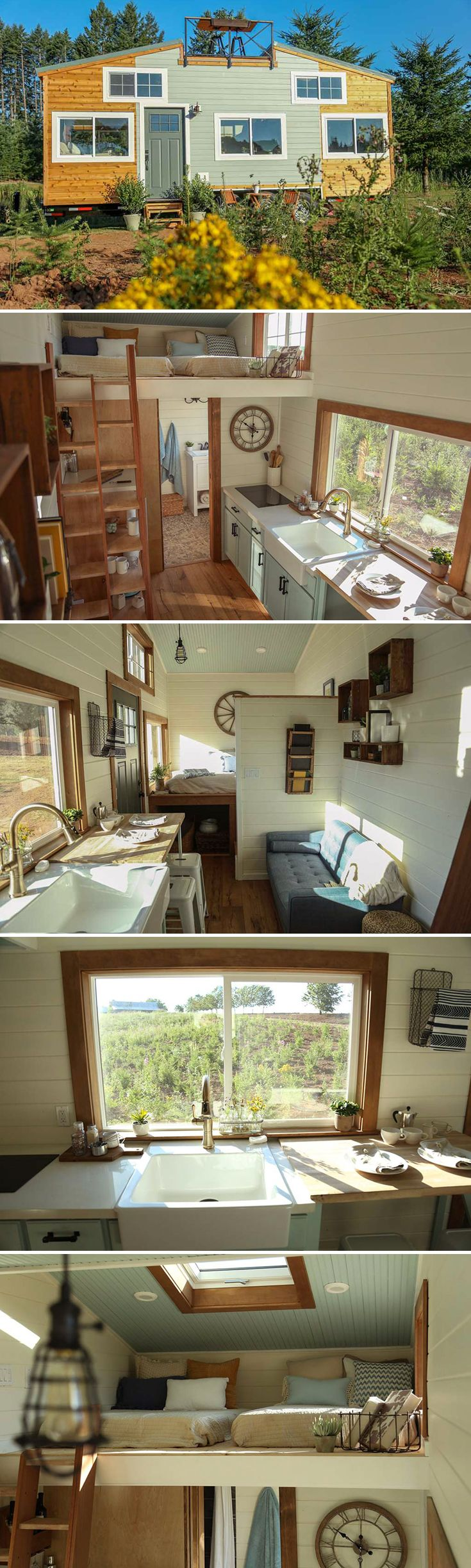 Modern tiny home boasts a big kitchen for foodies treehugger - Rustic Tiny Home By Tiny Heirloom
