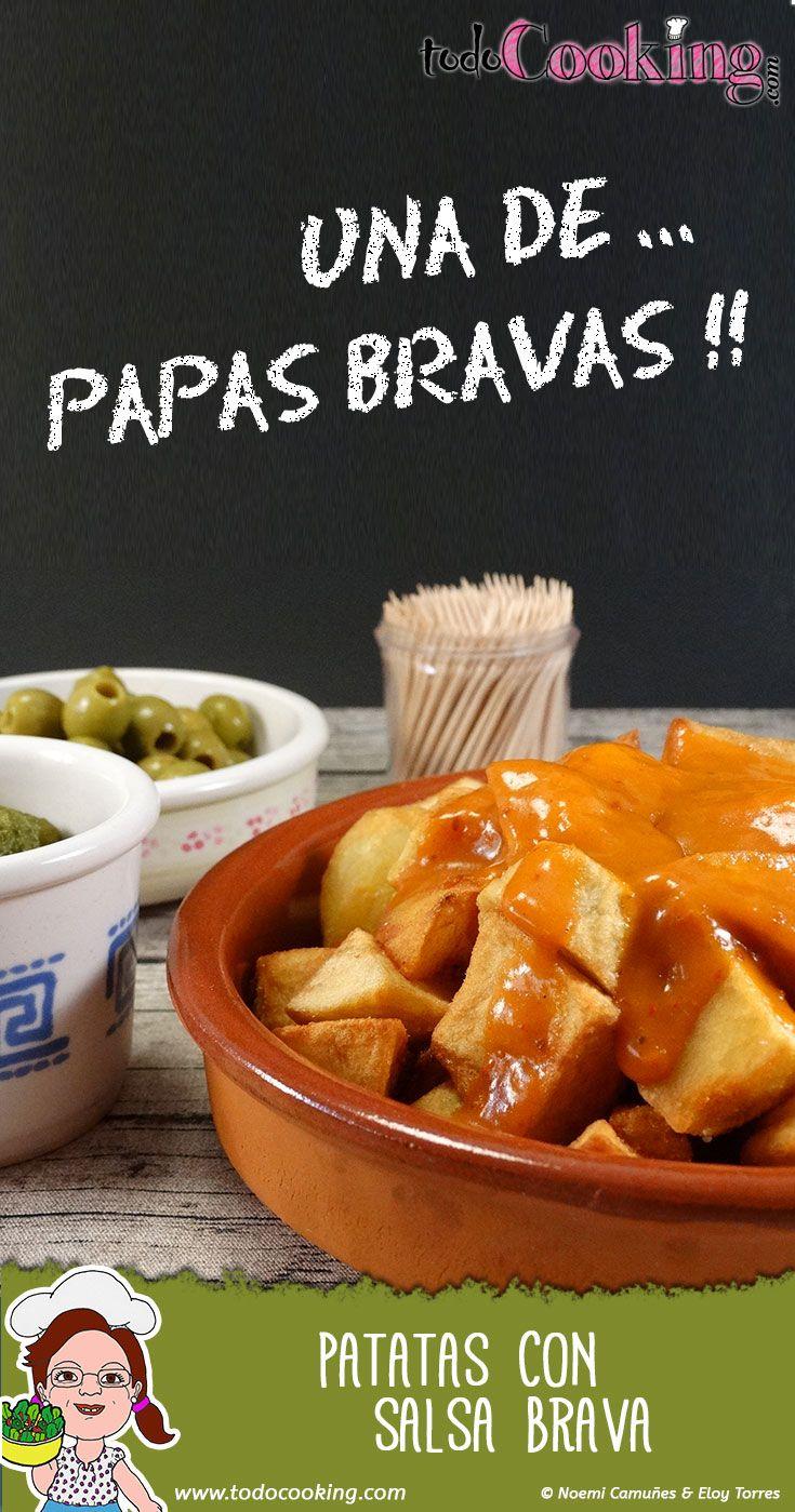 Las patatas bravas son una de las tapas españolas más clásicas, que puedes tomar con o sin mayonesa. Prepáralas en casa fácilmente con esta receta. #todocooking #patatas #papas #bravas #tapeo