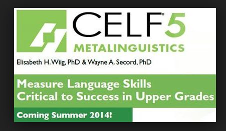 First impressions of the CELF 5 Metalinguistics Test