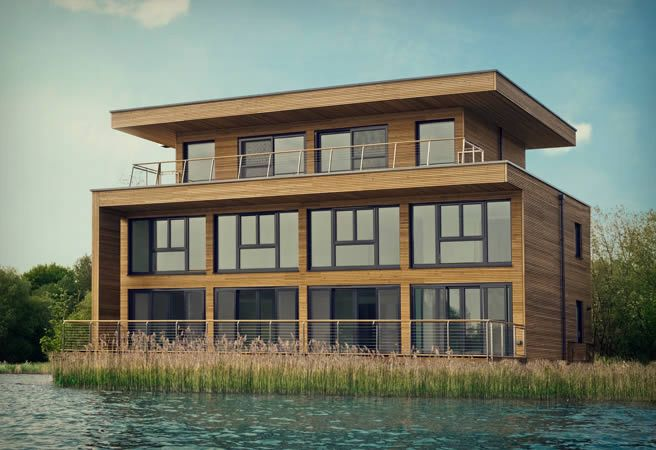 The Lakehouse.. luxury houses to appeal to the most discerning weekender.  www.kingdom-london.com