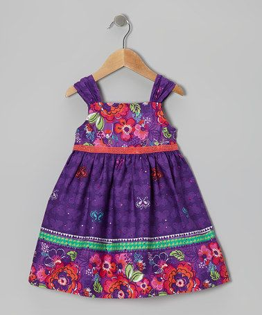 Take a look at this Purple Flower Buttercup Dress - Girls by Youngland on #zulily today!
