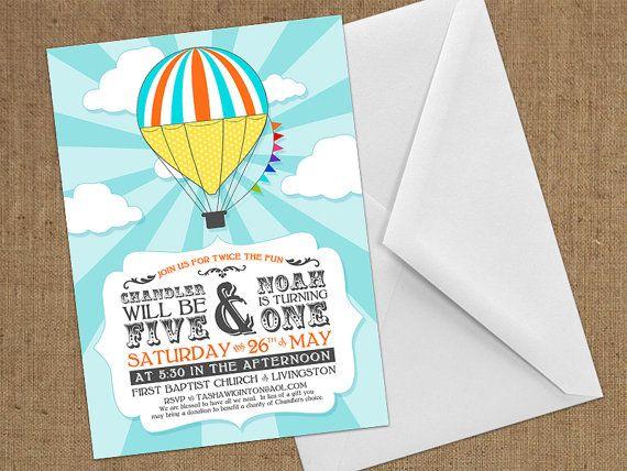 Invitations - Hot Air Balloon / Carnival - DIY Printable