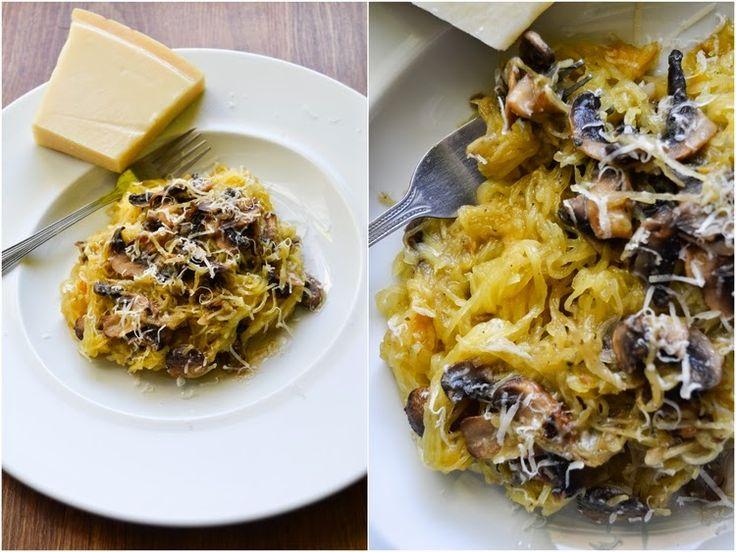 S vášní pro jídlo: Špagetová dýně s parmazánem a česnekovými houbami