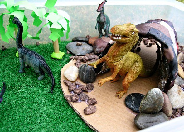 Small world dinosaur play from Childhood 101
