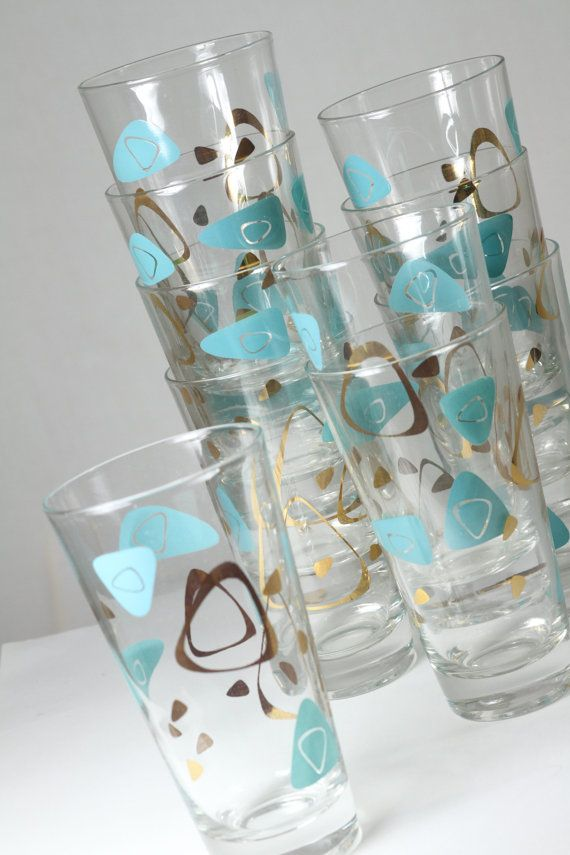 Vintage tumblers -  OMG!  My mom had these when I was a kid. I loved that pattern!!