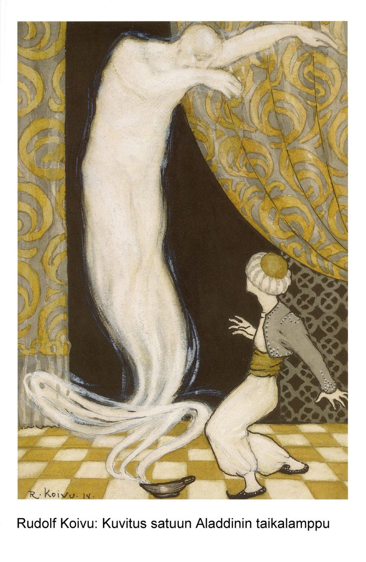 rudolf koivu - Aladdin and the genie of the lamp