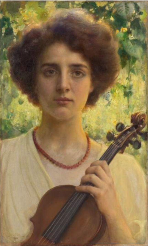 Franz Dvorak (Czech, 1862-1927) - Portrait of Herta Offner, 1910 - Oil on canvas