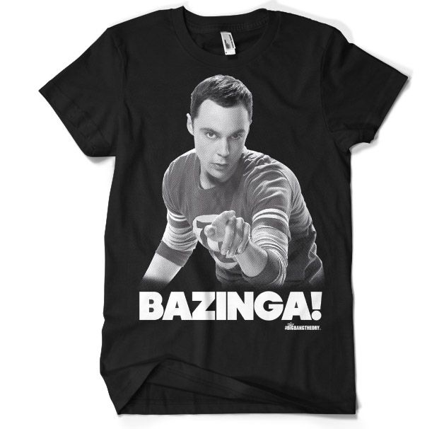 The Big Bang Theory - Sheldon Says BAZINGA! T-Shirt
