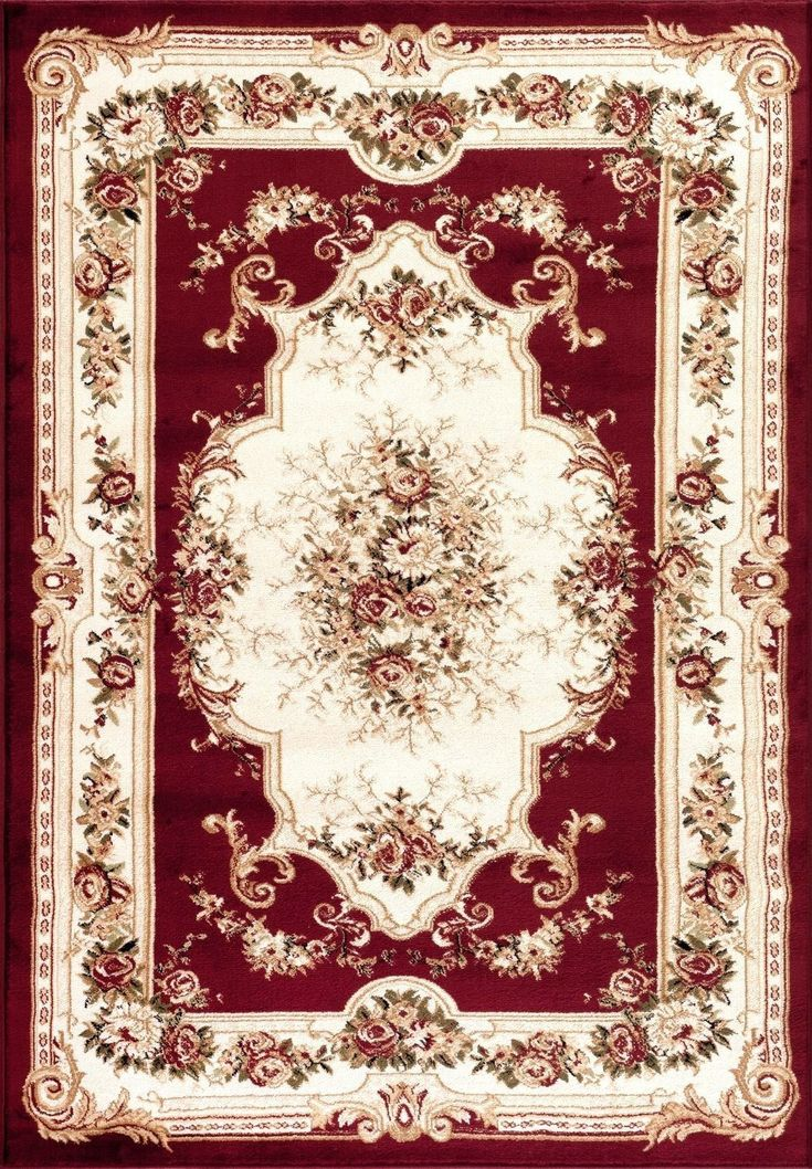 1057 Red Victorian Oriental Area Rugs #AreaRugs