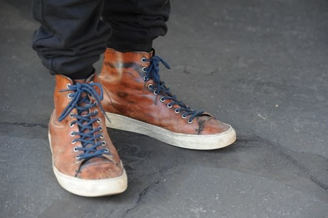 Those beat-up Buttero high top sneakers look awesome