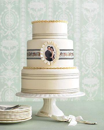 Photo Cake - something unexpected; plus the remaining decor is sparse and simple - so not overly expensive!
