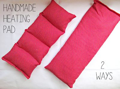 DIY Heating Pad with cover | It's Always Ruetten.  Shows 5 options for filler.