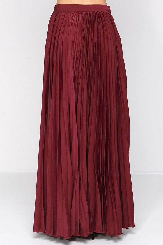 Back in a Minute Burgundy Maxi Skirt at Lulus.com!