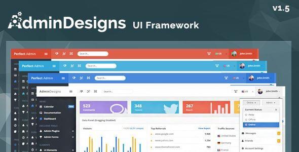 ThemeForest - AdminDesigns-Bootstrap Admin Template Framework Free - web administration sample resume
