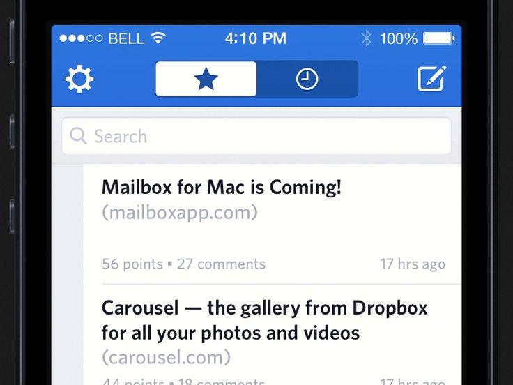 Designer News – Pull to Refresh by Evan Dinsmore