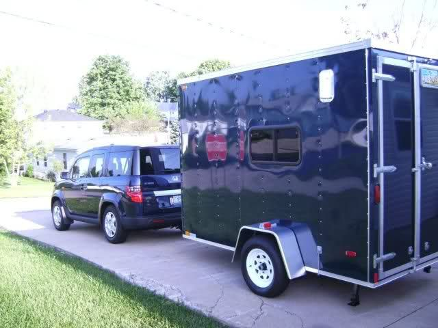 Cargo Trailer Can Hold Two Motorcycles And Lots Of Camping
