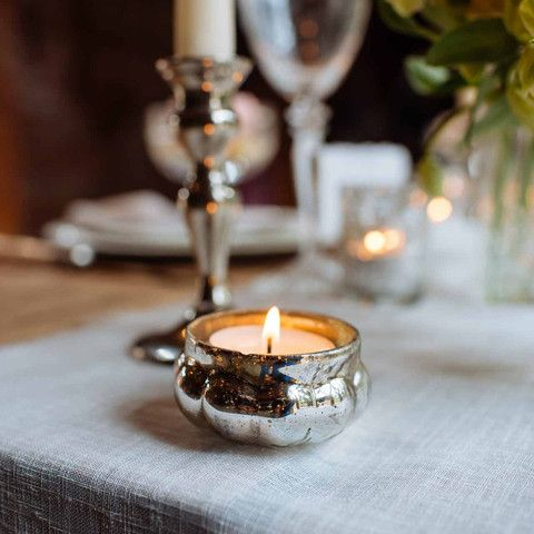 Mini Floating Mercury Silver Glass Tea Light Holders - The Wedding of My Dreams