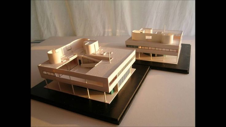 Le Corbusier VILLA SAVOYE - 1:100 and 1:200 model