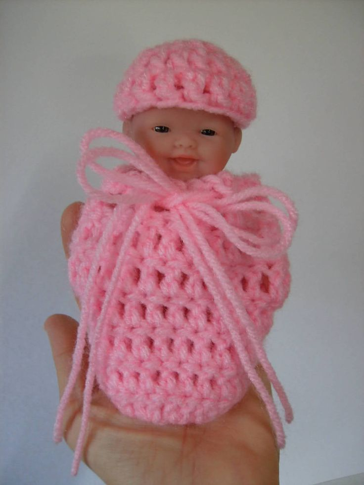 How To Make Crochet Amigurumi Patterns : How to Crochet a Small Doll Cocoon and Cap-- This pattern ...