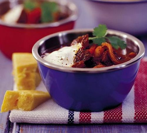 Spicy Beef Stew With Beans Peppers