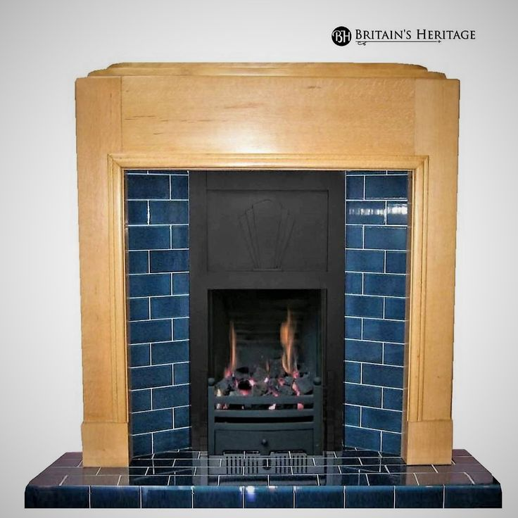 Tiled Reproduction Art Deco Fireplace With Dfe Gas Fire Kamin