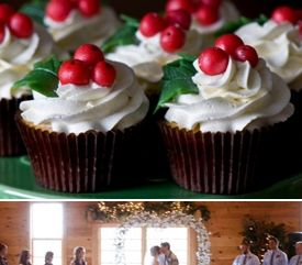 Winter Wedding Christmas Cupcakes