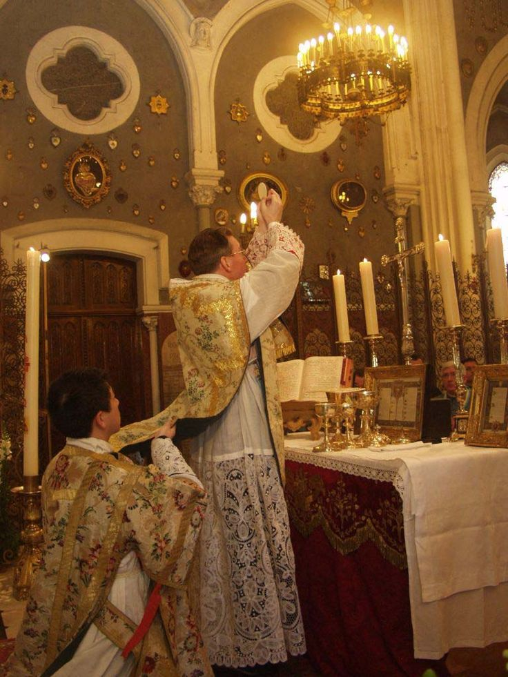 """theraccolta: """" Mass at Lourdes said by the Institute of Christ the King """""""