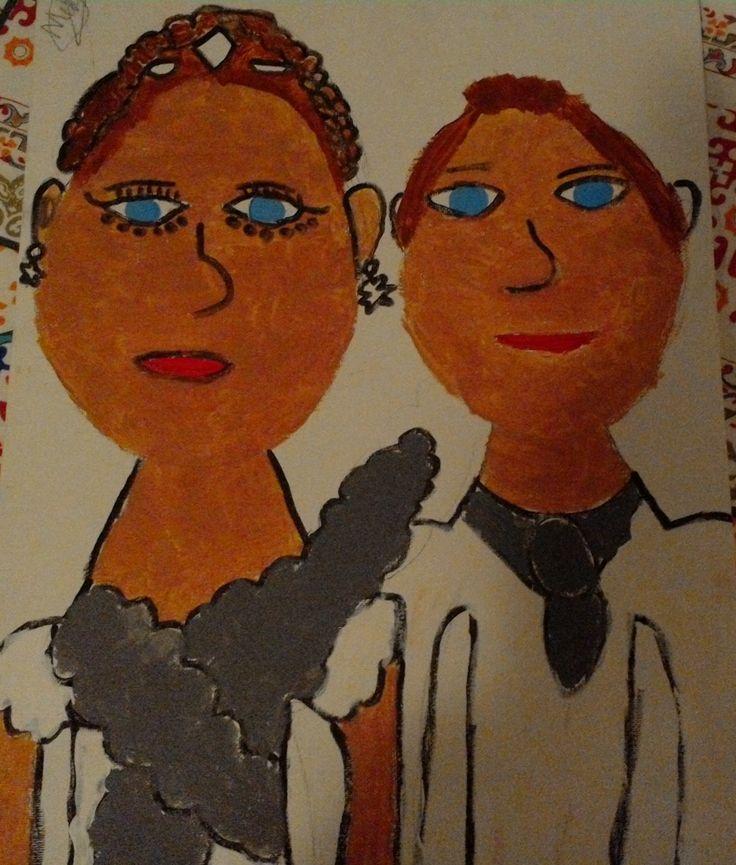 "Artwork by Molly_Jane55 ""Katniss and Peeta- Wedding"""