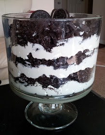 Live, Love, Laugh, EAT!!!: Oreo Trifle for Black & White Party!