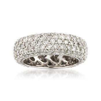 Diamond Eternity Band in White Gold. Our sparkling ring symbolizes the light of eternal love with a complete circle of diamonds in all their breathtaking glory! To see for yourself just click the ring.