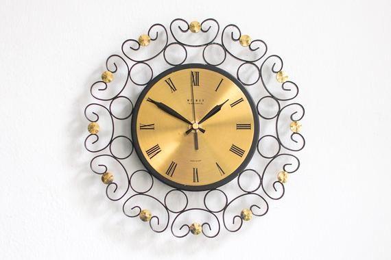 Large Wall Clock Wall Clock Modern Wall Clock Mid Century Etsy Mid Century Wall Clock Large Wall Clock Wall Clock Modern