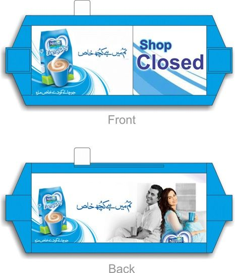 Nestle EveryDay Shop OPEN/CLOSE Sign; Designed & Produced By Display Power Global- Pakistan