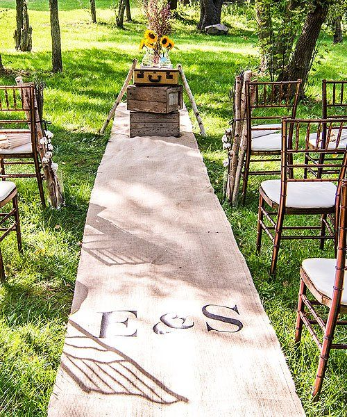 Personalized Burlap Aisle Runner with Equestrian Monogram   (DIY Project)