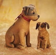 antique Steiff dogs