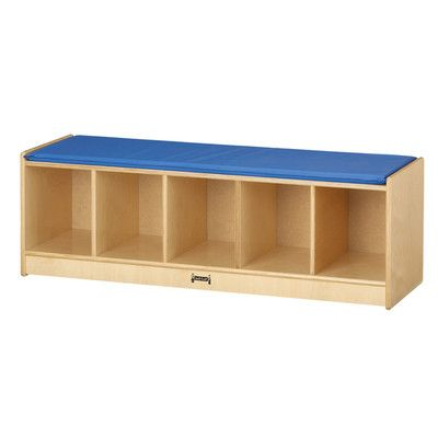 Jonti-Craft Camel Cushion 5 Section Bench Cubby Unit