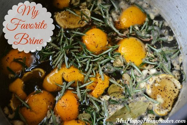 My Favorite Brine! Not only is it pretty (and fragrant) - but it produces the yummiest and moistest bird! Fantastic for your Thanksgiving turkey, but also really good with roasting chickens too!