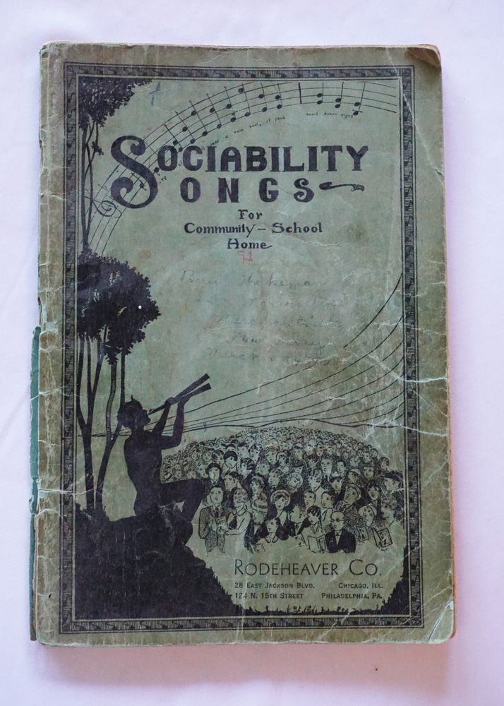 1951, Sunday School Songs, 122 Hymns, ANTIQUE Books, Sheet Music, Praise Book